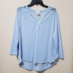H&M Long Sleeve Lace Top Size L